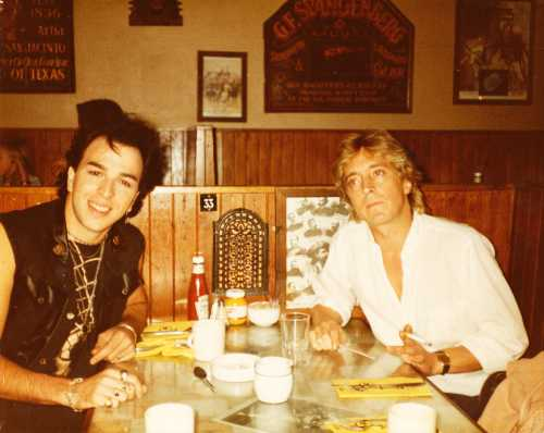 [Jeremiah with Mick Ronson in London]